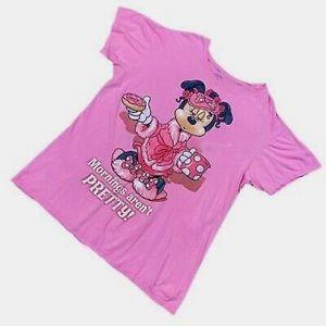 Women's Pink Pajama Top Disney World Night Shirt